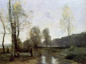 Jean Baptiste Camille Corot - Canal à Picardi