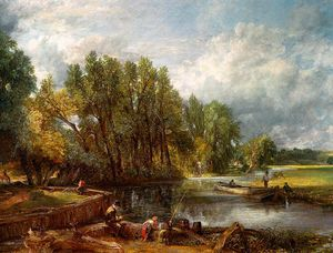 John Constable - Mill Stratford -   Huile  sur  toiles  -