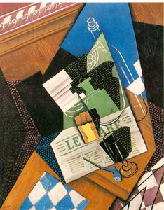 Juan Gris - Water-bottle , Bouteille , et Fruit-dish - -