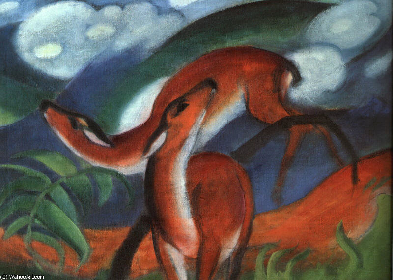 Untitled (1326) de Franz Marc (1880-1916, Germany)