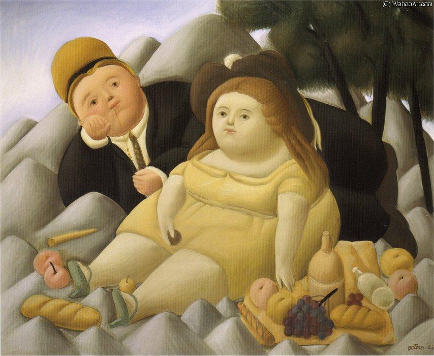 Pique nique en montagne de fernando botero angulo 1932 for El jardin de botero