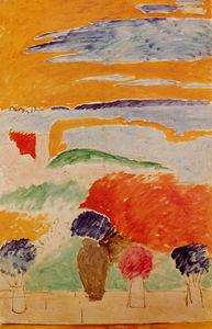 Ouvert fen tre collioure huile sur toile de henri for Matisse fenetre a tahiti