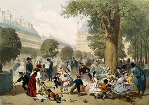 Eugene Charles Francois Guerard - Les Tuileries
