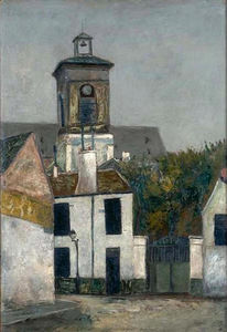 Maurice Utrillo - Chuch de saint Margerit à paris