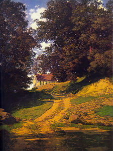Maxfield Parrish - Le Pays Schoolhouse
