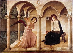 Fra Angelico - Couloirs -   au  Annonciation