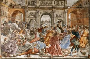 Domenico Ghirlandaio - Paroi 1.leftt - massacre des innocents