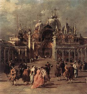 Francesco Lazzaro Guardi - piazza di san marco ( détail )