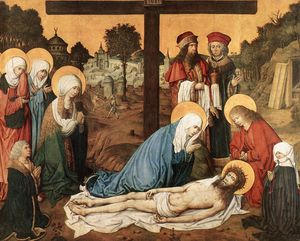 Master Of The Housebook - lamentation du christ
