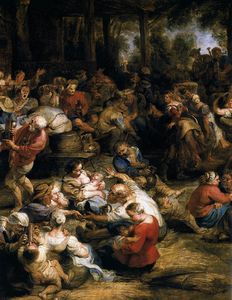Peter Paul Rubens - le Village fête  détail