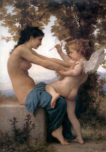 William Adolphe Bouguereau - Jeune fille se accusé contre lamour