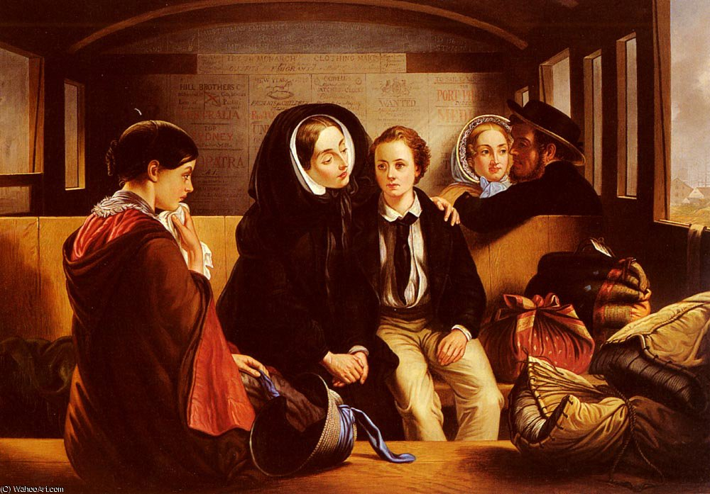 SECOND_CLASS THE_PARTING de Abraham Solomon (1823-1862, United Kingdom) | WahooArt.com