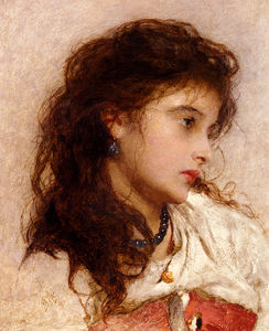George Elgar Hicks - Edgar une fille tsigane