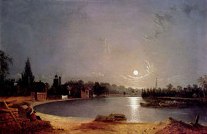 Henry Pether - La tamise au clair de lune twickenham