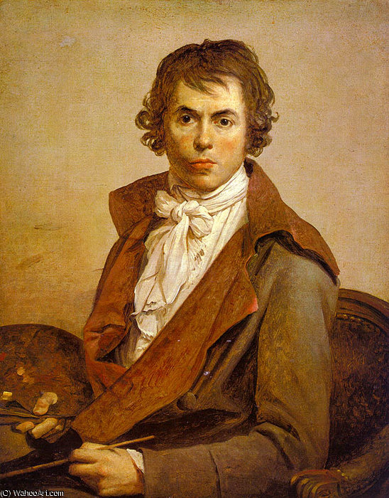 Autoportrait de Jacques Louis David (1748-1800, France)