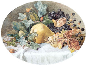 John William Hill - Nature morte aux fruits