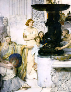 Lawrence Alma-Tadema - Le détail de Sculpture Gallery