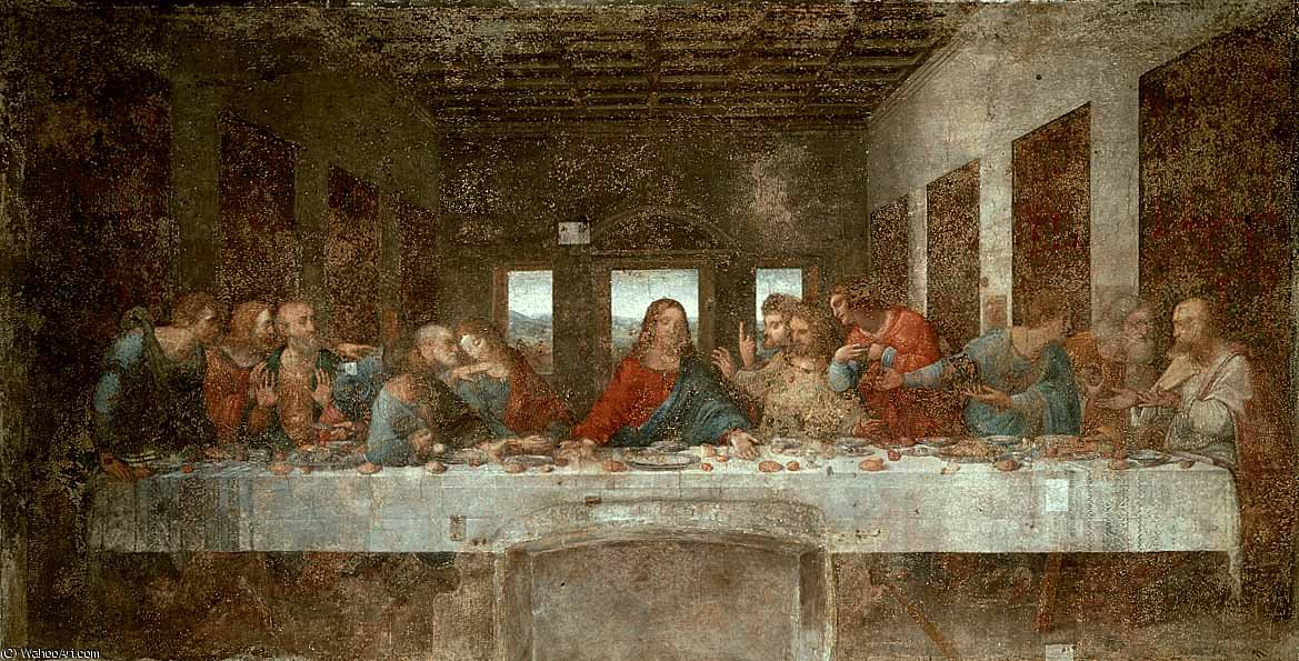 The Last Supper pré de Leonardo Da Vinci (1452-1519, Italy)