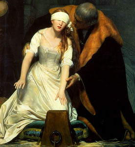 Paul Delaroche (Hippolyte Delaroche) - l exécution de lady jane grey centre