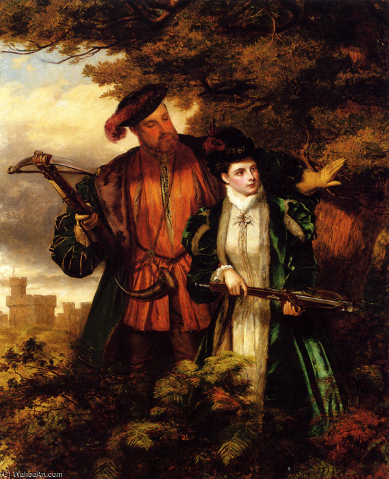 Henri VIII et anne Boleyn cerf tournage de William Powell Frith (1819-1909, United Kingdom)