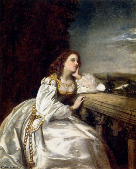 Juliette o que je devais un gant sur cette main de William Powell Frith (1819-1909, United Kingdom)