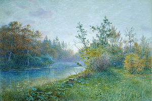 William Stanley Haseltine - Mill Dam à Traunstein