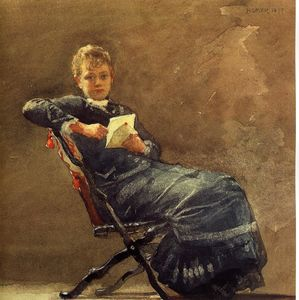 Winslow Homer - fille assise