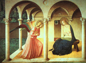 Fra Angelico - l annonciation , fin fresque , Museo di