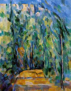 Paul Cezanne - Bend dans forest-road , 1902-06 , collection dr . ruth bak