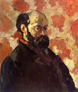 Paul Cezanne - Self-portrait sur une rose fond , galerie