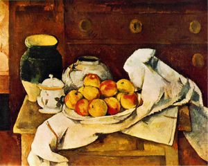 Paul Cezanne - Nature morte, 1883-1887, musée d art Fogg, univers harvard