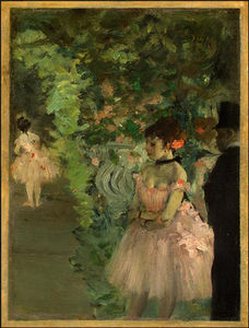 Edgar Degas - danseurs backstage , ng washington
