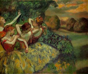 Edgar Degas - Quatre danseurs , californie Nationale Galler