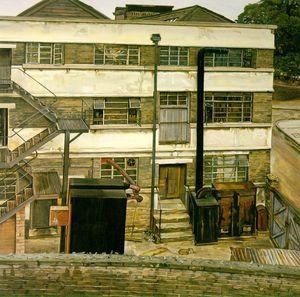 Lucian Freud - usine londres