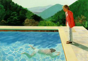 David Hockney - flaque 2   de figures