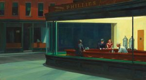 Edward Hopper - Engoulevents , lart Institut de Chicago , Chica