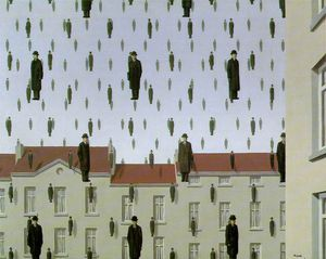 Rene Magritte - Golconde le menil collecte , houston , au texas