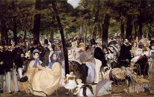 Edouard Manet - Musique aux Tuileries, Gall National