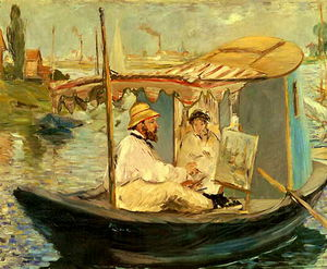 Edouard Manet - monet studio