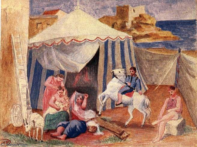 Acheter Reproductions D'art De Musée | Cirque forain de Pablo Picasso (1881-1973, Spain ...