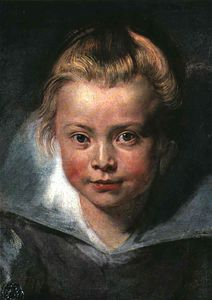 Peter Paul Rubens - Child-s tête , leichtenstein collection vaduz , L
