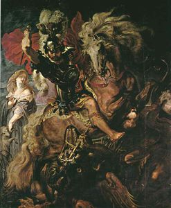 Peter Paul Rubens - saint george ans le dragon , Prado