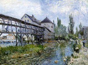 Alfred Sisley - Provencher-s moulin à Plus t , Musée Bo
