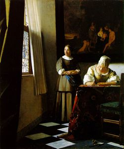 Jan Vermeer - écriture dame