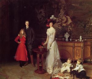 John Singer Sargent - Monsieur george sitwell , lady sitwell et la famille
