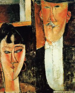 Amedeo Modigliani - Bride and Groom (les mariés)