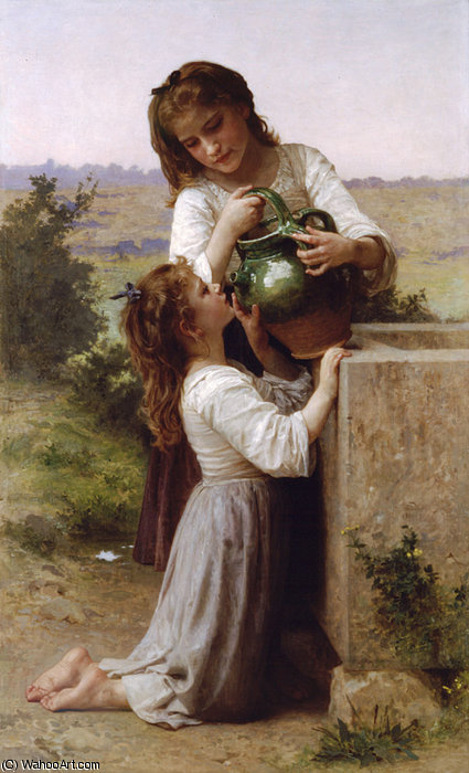 Un la Fontaine de William Adolphe Bouguereau (1825-1905, France)