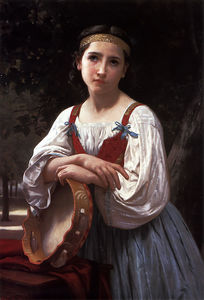 William Adolphe Bouguereau - Bohemienne au Tambour de Basque