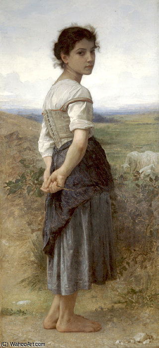 Jeune bergère de William Adolphe Bouguereau (1825-1905, France)