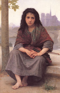 William Adolphe Bouguereau - Le bohemienne